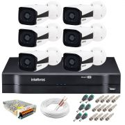Kit Intelbras 6 Câmeras HD 720p VMH 3130 B + DVR Intelbras + Acessórios