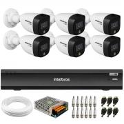 Kit 6 Câmeras de Segurança VHD 1220 B Full Color Full HD 1080p + Gravador iMHDX 3008 8 Canais + Acessórios
