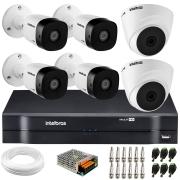 Kit 6 Câmeras de Segurança VHD 1010 Dome + VHD 1010 Bullet, HD 720p 1MP - Lente 3.6 mm + DVR MHDX 1108 + APP Grátis de Monitoramento