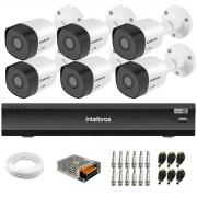 Kit 6 Câmeras Full HD 1080p VHD 3230 B G6 + Gravador de Vídeo Digital Com Inteligência Artificial iMHDX 3008 8 Canais + Acessórios