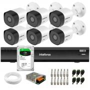 Kit 6 Câmeras Full HD 1080p VHD 3230 B G6 + Gravador de Vídeo Digital Com Inteligência Artificial iMHDX 3008 8 Canais + HD 1TB