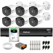 Kit 6 Câmeras Full HD 1080p VHD 3230 B G6 + Gravador de Vídeo Digital Com Inteligência Artificial iMHDX 3008 8 Canais + HD 2TB