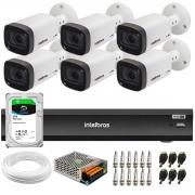 Kit 6 Câmeras Intelbras Varifocal Multi HD VHD 3240 VF G6 IP67 IR 40m + Gravador iMHDX 3008 8 Canais + HD 2TB