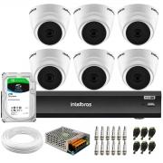 Kit 6 Câmeras Intelbras VHD 1220 D G6 20m, Full HD 1080p Lente 2,8 mm + Gravador iMHDX 3008 8 Canais + HD 2TB