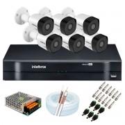 Kit 6 Câmeras de Segurança Full HD 1080p VHD 3230 B G6 + DVR Intelbras MHDX 1108 1080p de 8 Canais + Acessórios