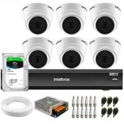 Kit 6 Câmeras Intelbras VHL 1220 D 20m, Full HD 1080p Lente 2,8 mm + Gravador iMHDX 3008 8 Canais + HD 1TB
