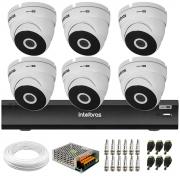 Kit 6 Câmeras VHD 3220 Dome Full HD 1080p + Gravador iMHDX 3008 8 Canais + Acessórios