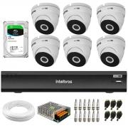 Kit 6 Câmeras VHD 3220 Dome Full HD 1080p + Gravador iMHDX 3008 8 Canais + HD 1TB
