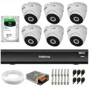 Kit 6 Câmeras VHD 3220 Dome Full HD 1080p + Gravador iMHDX 3008 8 Canais + HD 2TB