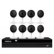 Kit 8 Câmeras com Inteligência Artificial Full HD iM3 Intelbras Branca + 1 NVR 08 Canais 6MP NVD 1308 Intelbras