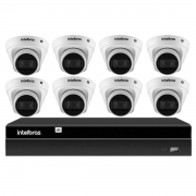 Kit 8 Câmeras de Segurança Dome Intelbras Full HD 1080p VIP 1230 D G2 + NVR Intelbras Digital Video 8 Canais Recorder NVD 1408 4K