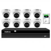 Kit 8 Câmeras de Segurança Dome Intelbras Full HD 1080p VIP 1230 D G2 + NVR Intelbras Digital Video 8 Canais Recorder NVD 1408 4K + HD 2TB