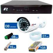 Kit 8 Câmeras de Segurança 1080N Focusbras FS-MDF2M + DVR Focusbras 1080N + Acessórios