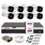 Kit 8 Câmeras de Segurança Full HD 1080p VHD 1220B IR + DVR Intelbras Full HD + HD WD Purple 2TB + Acessórios