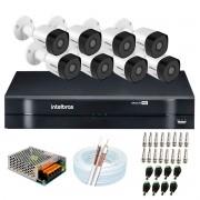 Kit 8 Câmeras de Segurança Full HD 1080p VHD 3230 B G6 + DVR Intelbras MHDX 1108 1080p de 8 Canais + Acessórios