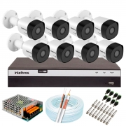 Kit 8 Câmeras de Segurança Full HD 1080p VHD 3230 B G6 + DVR Intelbras MHDX 3108 Full HD de 8 Canais + Acessórios