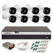 Kit 8 Câmeras de Segurança Full HD Intelbras VHD 1220B IR - DVR Intelbras Full HD 8ch + Acessórios