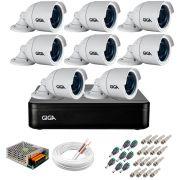 Kit 8 Câmeras GS0022 HD 720p Giga Security + DVR Giga Security Multi HD + Acessórios