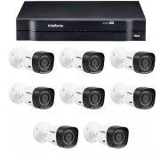 Kit 8 Câmeras de Segurança HD 720p Intelbras VHD 1120B G4 + DVR Intelbras Multi HD + Acessórios