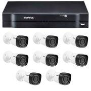 Kit 8 Câmeras de Segurança HD 720p Intelbras VHD 3120B G3 + DVR Intelbras Multi HD + Acessórios
