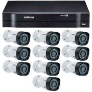 Kit 8 Câmeras de Segurança HD 720p Intelbras VHD 3130B G4 + DVR Intelbras Multi HD + Acessórios