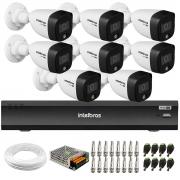 Kit 8 Câmeras de Segurança VHD 1220 B Full Color Full HD 1080p + Gravador iMHDX 3008 8 Canais + Acessórios