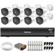Kit 8 Câmeras Full HD 1080p VHD 3230 B G6 + Gravador de Vídeo Digital Com Inteligência Artificial iMHDX 3008 8 Canais + Acessórios