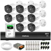 Kit 8 Câmeras Full HD 1080p VHD 3230 B G6 + Gravador de Vídeo Digital Com Inteligência Artificial iMHDX 3008 8 Canais + HD 1TB
