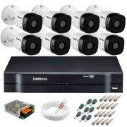 Kit 8  Câmeras HD 720p 10m Infravermelho de Visão Noturna VHD 1010 B G5 + DVR Intelbras + App Grátis de Monitoramento