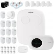 Kit Alarme Intelbras 15 sensores, Residencial e Comercial, AMT 2110, Completo