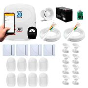 Kit Alarme JFL 12 Sensores, Active 20 Ethernet, Aplicativo Celular