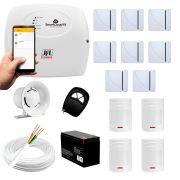 Kit Alarme JFL 12 sensores Residencial e Comercial, Smartcloud 18 Sem Fio