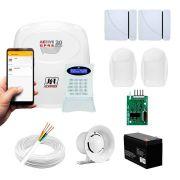 Kit Alarme JFL 4 sensores Residencial e Comercial, Active 20 GPRS