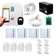 Kit Alarme JFL 8 Sensores, Active 20 Ethernet, Aplicativo Celular