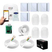 Kit Alarme JFL 8 sensores Residencial e Comercial Active 20 GPRS