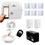 Kit Alarme JFL 8 sensores Residencial e Comercial, Smartcloud 18 Sem Fio