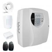 Kit Alarme Residencial Wifi 2 Sensores sem fio, 2 Controles Remoto, Central Cloud 10 EW Genno