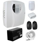 Kit Alarme Residencial Wifi 2 Sensores sem fio, 2 Controles Remoto, Central Cloud 10 EW Genno + Bateria