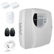 Kit Alarme Residencial Wifi 3 Sensores sem fio, 2 Controles Remoto, Central Cloud 10 EW Genno