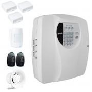 Kit Alarme Residencial Wifi 4 Sensores sem fio, 2 Controles Remoto, Central Cloud 10 EW Genno