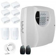 Kit Alarme Residencial Wifi 8 Sensores sem fio, 2 Controles Remoto, Central Cloud 10 EW Genno