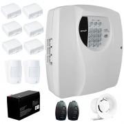 Kit Alarme Residencial Wifi 8 Sensores sem fio, 2 Controles Remoto, Central Cloud 10 EW Genno + Bateria