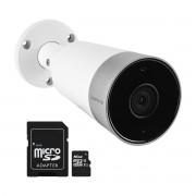 Kit Câmera Externa Wi-Fi Mibo Full HD 1080p IM5 Intelbras + Cartão de Memória de 16GB
