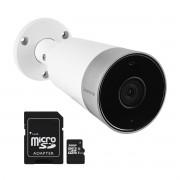 Kit Câmera Externa Wi-Fi Mibo Full HD 1080p IM5 Intelbras + Cartão de Memória de 32GB