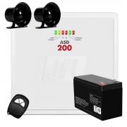 Kit Central Alarme JFL ASD-200, até 2 zonas mistas + 1 Controle + 1 Bateria + 2 Sirenes