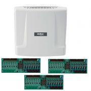 Kit Central de Interfone Condomínio com 24 Ramais - Intelbras Comunic 48 + Placas Desbalanceadas