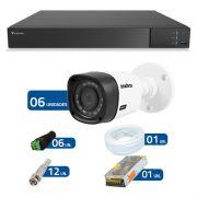 Kit 06 Câmeras de Segurança Full HD 1080p Intelbras VHD 1220 + DVR Tecvoz Flex Full HD + Acessórios