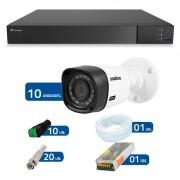 Kit 10 Câmeras de Segurança Full HD 1080p Intelbras VHD 1220 + DVR Tecvoz Flex Full HD + Acessórios