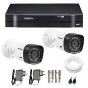 Kit 2 Câmeras de Segurança HD 720p Intelbras VHD 1120B G4 + DVR Intelbras Multi HD + Acessórios