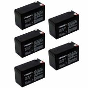 Kit 5 Baterias Powertek 12V, 1.95Ah, Centrais de Alarme e Cerca Elétrica - EN011